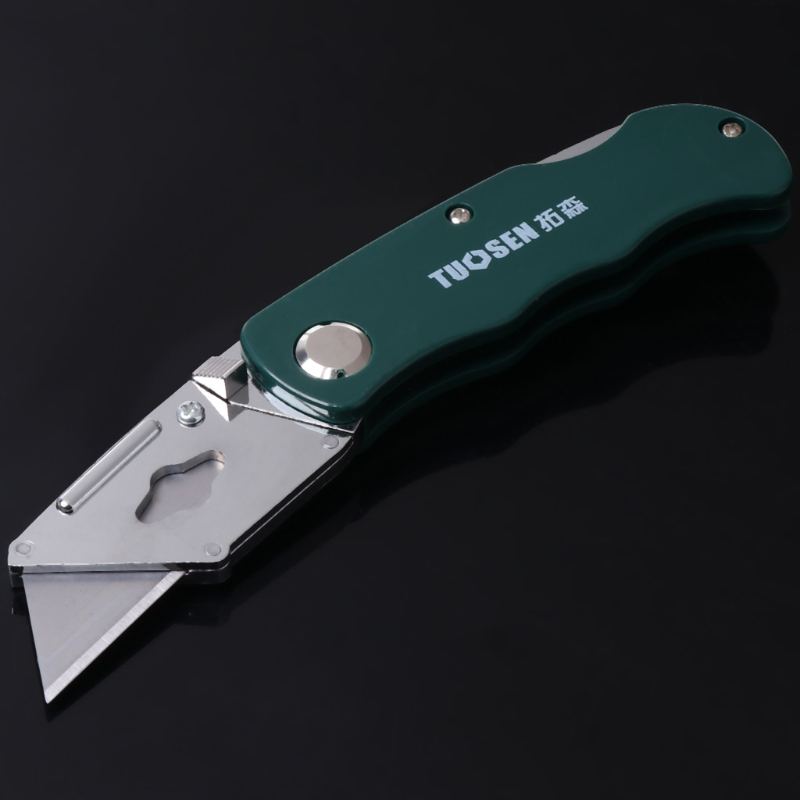 Stainless Steel Folding Utility Knife Woodworking Outdoor Camping W/ Five Blades LX9A