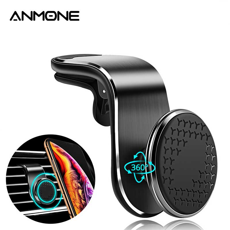ANMONE Magnetic Car Phone Holder For Iphone11 Universal Air Outlet Metal Magnetic Navigation Car Bracket 360 Degree Rotation|Phone Holders & Stands| |  - title=