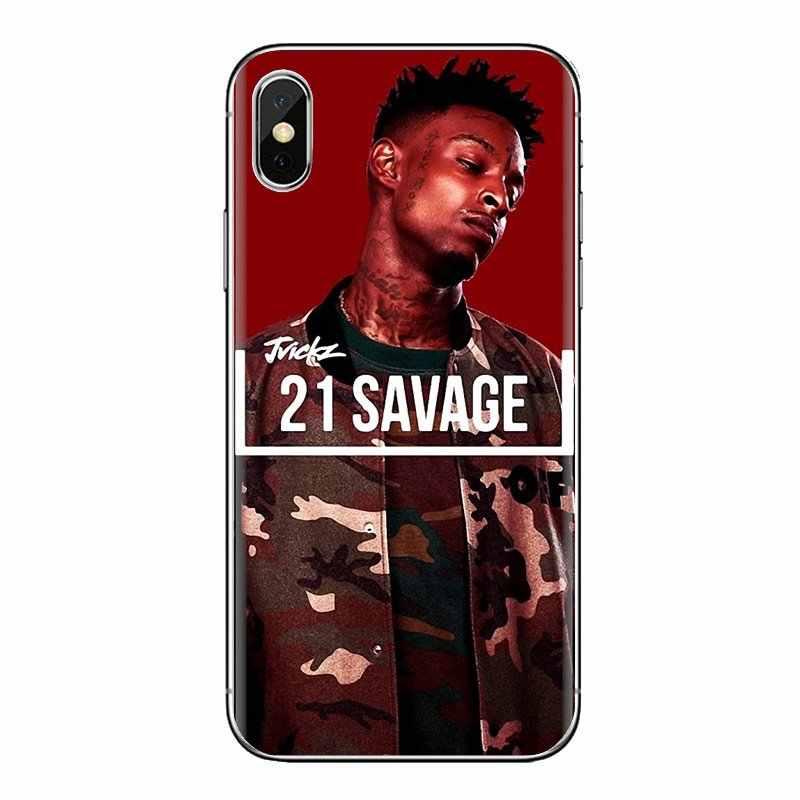 Für Samsung Galaxy S3 S4 S5 Mini S6 S7 Rand S8 S9 S10 Plus Hinweis 3 4 5 8 9 weiche Transparente Fällen Abdeckungen 21 Savage Schlachtung Band