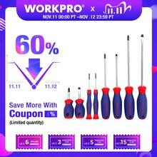 Workpro 8pc chaves de fenda conjunto/chave de fenda phillips precisão chaves de fenda para telefone pc eletrônica