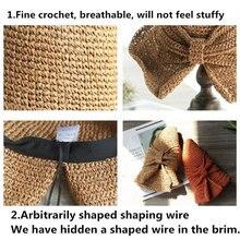 Шляпа от солнца из рафии для детей и взрослых шляпа с широкими