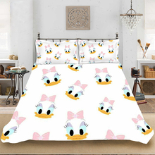 Donald Duck Cartoon Children Full-King Size Bedding set Bedclothes Include Duvet Cover Pillowcase Print Home Textile Bed Linen