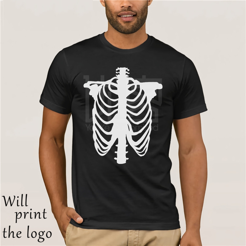 Skeleton T Shirt Skull Halloween Ghost Vampire Scary Costume Dress Up Emo Goth Cool Casual Pride T Shirt Men Unisex New Fashion