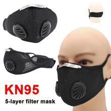 Anti-Virus KN95 Mask Level Five-layer Filter Riding Mask N95 Mask Reusable Respirator  N95 FFP3 Mask FFP1 FFP2 Mask Respirator