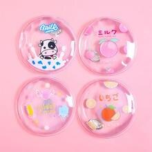 Cute round cartoon transparent hand warmer print pvc mini water