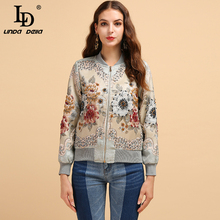 LD LINDA DELLA Fashion Runway Autumn Winter Jackets Women's Long Sleeve Gorgeous