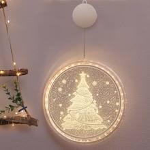 Рождественское украшение подвесной 3d светильник для комнаты