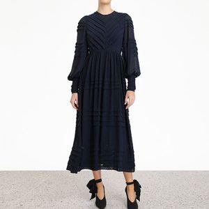 Женское вечернее платье, черное, белое элегантное подиумное длинное платье для осени, 2019