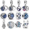 Hot Sale 925 Sterling Silver snowflake Hamsa Hand unicorn fox star Beads Charm Fit Original Pandora Bracelet Bangle Jewelry Gift