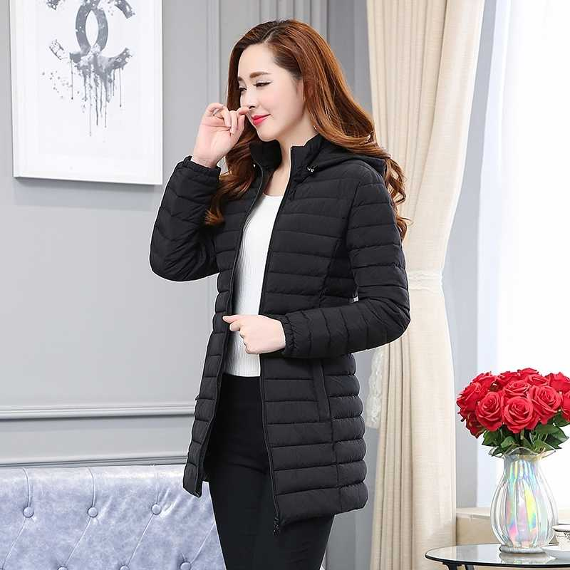 Outono inverno jaqueta feminina plus size parka luz wadded longo casaco coreano acolchoado parkas abrigos mujer invierno 2020 kj616