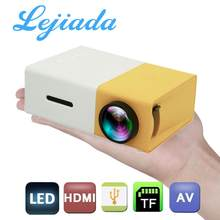 Lejiada yg300 quente pro led mini projetor 1080p hd completo suportado hdmi usb av tf ps4 portátil casa media player