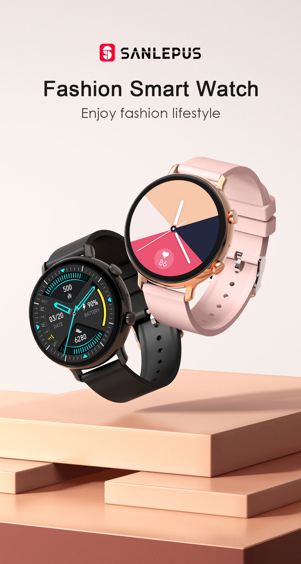 Ha741eb1a1dc5449cad776f43af17810aM SANLEPUS 2021 Smart Watch Dial Calls Men Women Waterproof Smartwatch ECG PPG Fitness Bracelet Band For Android Apple Xiaomi