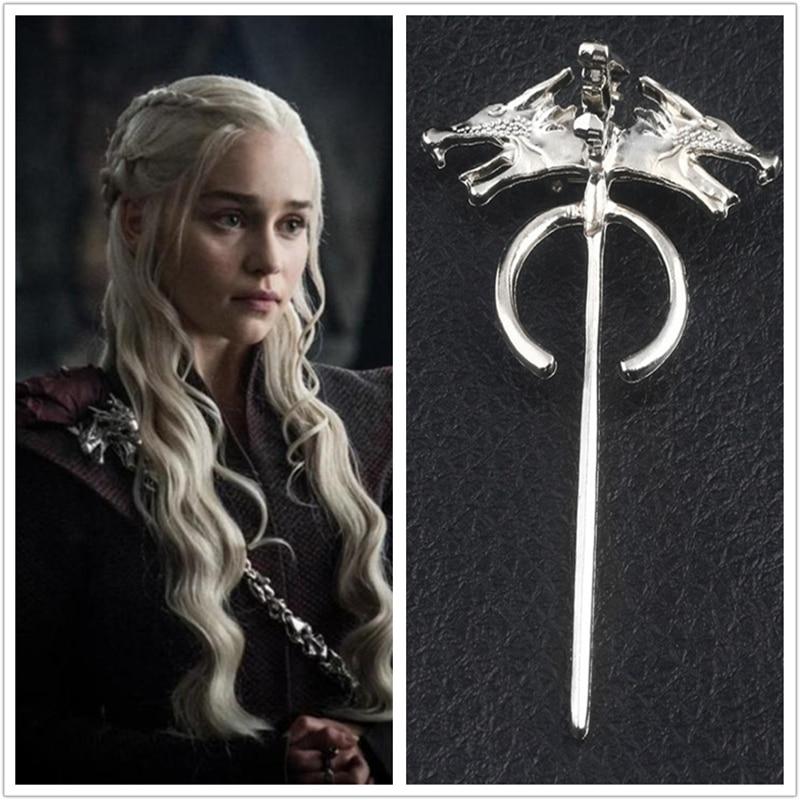Game Of Thrones Season 8 Daenerys Targaryen Cosplay Badge Mother of Dragons Brooch Pin(China)
