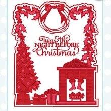 Металлические Вырубные штампы, вырубные штампы для рождественской елки, сада, скрапбукинга, бумажных ножей, пресс-формы, трафареты, штампы