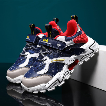 2020 Autumn Sport Children Shoes Luxury Brand Boys Running Shoes Dark blue Boy Kids Leather Shoes Fashion Casual Young Sneakers spring leather boys running shoes pink kids sneakers girl white little boys shoes sport kids shoes kids fashion shoes