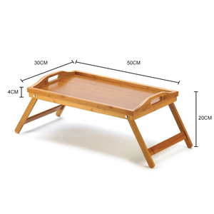 Image 5 - Foldable Portable Bamboo Laptop Desk Notebook Dining Table for Sofa Bed Laptop Table on The Bed Tables Standing Lap Desk Table