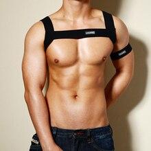 Мужское нижнее белье, Регулируемый мужской нагрудный ремень для тела, пояс для связывания, эластичное плечо, поддержка мышц, бандаж, ночная производительность, повязка на руку