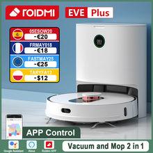 ROIDMI – aspirateur Robot EVE Plus, application de contrôle, Assistant de soutien Alexa Mi, nettoyage des sols de la maison, collecte de poussière