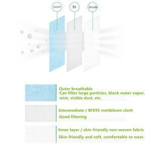 Image 4 - 3 Layer المتاح أقنعة طبية غير المنسوجة الكبار مكافحة الغبار قناع جراحي الغبار قناع الحماية الأزرق قناع وجه طبي