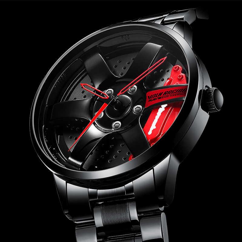 Nektom relógio de pulso masculino para roda de carro, relógios de pulso impermeáveis, design personalizado, esportivo, para homens