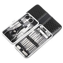 18pcs/lot Manicure Pedicure Set Nail Clippers 18 Pcs Stainless Steel Manicure Kit Professional Grooming Kit Nail Tools Fashion(China)