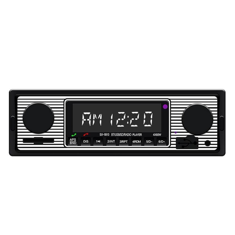HiMISS Bluetooth винтажный автомобильный Радио MP3-плеер Стерео USB AUX классический автомобильный стерео аудио