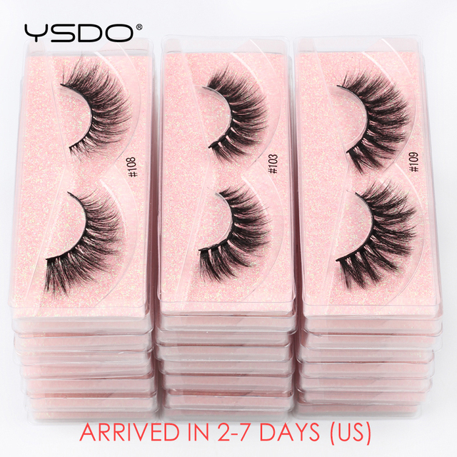 YSDO Eyelashes Wholesale 10/20/50/100 PCS 3d Mink Eyelashes Natural Mink Lashes Wholesale False Eyelashes Makeup Lashes In Bulk 1