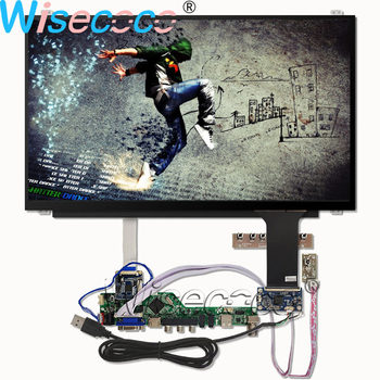 Wisecoco 15.6 Inch 1366×768 Slim LCD Screen 7S5P WLED Backlight Display with Touch  Panel LVDS to EDP HDMI VGA Controller Board