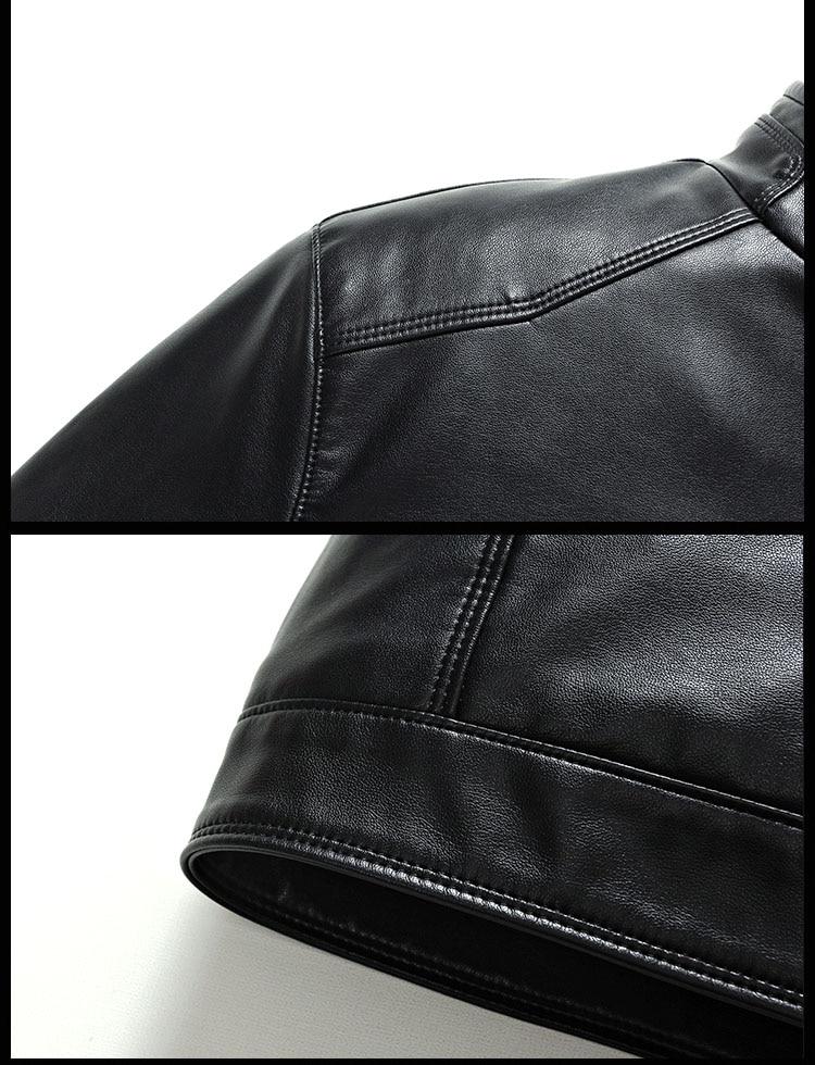 Ha7428db0d00a4c8e971a9fc287b88716m Plus size men genuine leather jacket 4XL 5XL 6XL 2020 spring and autumn zipper male sheepskin leather jacket father outwear P07