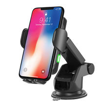 10W Wireless Car Charger for iPhone X XS MAX XR 8 Plus Samsung S8 S9 Wireless Fast Charging Automatic Clamping Car Phone Holder(China)
