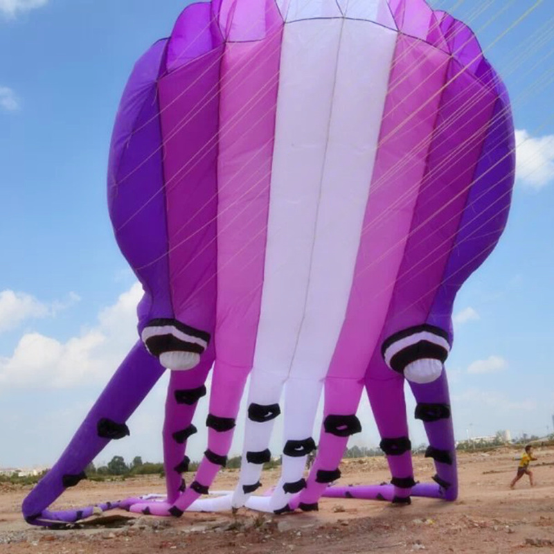 15m 23m 30m Large Octopus Kite Soft Inflatable Animal Kite Adult Outdoor Sports Flying Tool Fun
