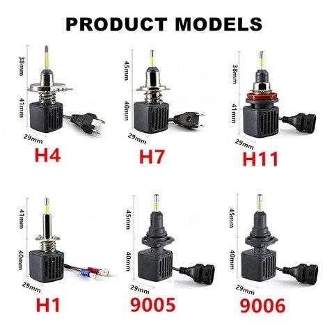 mini h4 led h7 10000lm d2s h1