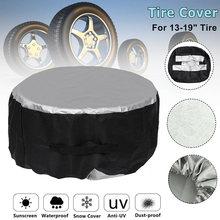 1 pçs 13-19 polegada caso capa de pneu de reposição do carro capa de pneu de armazenamento sacos de transporte tote poliéster pneu para carros tampas de proteção da roda