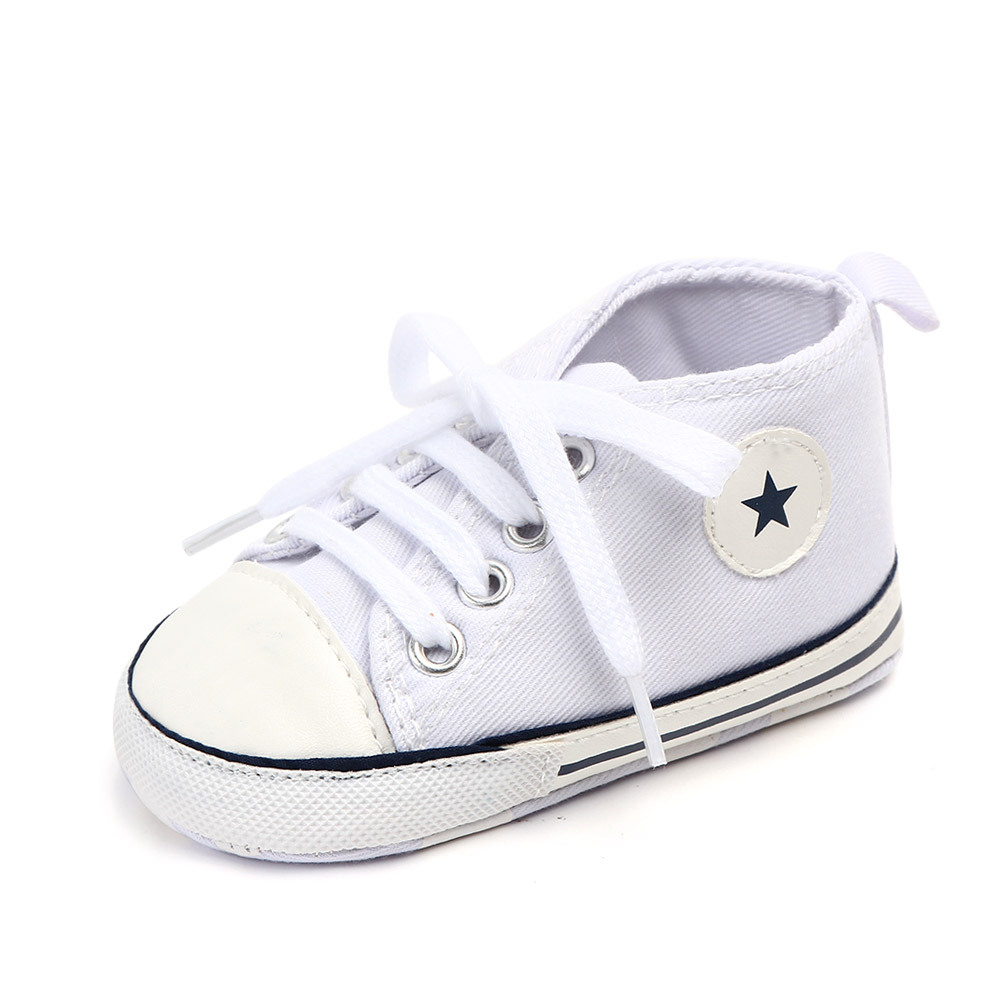Baby Canvas Sports Sneakers Newborn Print Star Hot First Walkers Shoes Infant Toddler Baby Boys Girls Anti-slip Baby Shoes