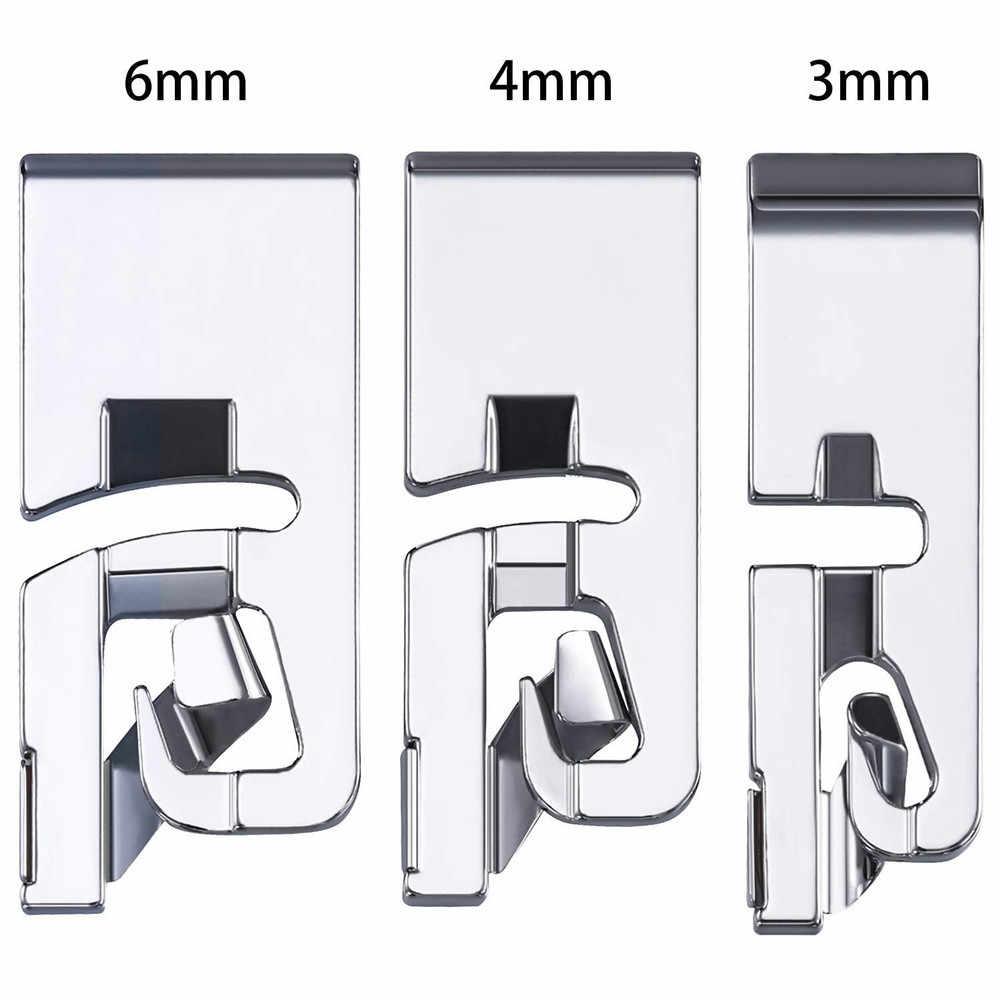 3Pcs naaien accessoires Smalle Rolzoom Naaimachine Naaivoet Set Huishoudelijke naaien naaivoet tool borduren hoepel