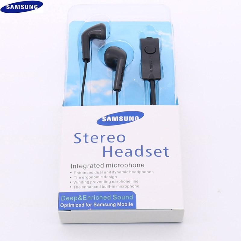Оригинальные наушники Samsung S5830, 3,5 мм, спортивные наушники-вкладыши, проводной микрофон для Galaxy S7, S8, S9, S10, A8, A9, A20, A30, J5, J7, Note 7, 8, 9