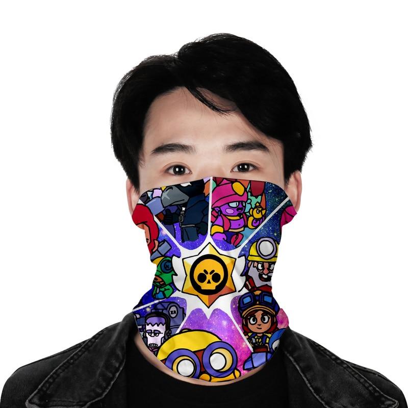 Brawl Stars Game Mouth Face Masks Cartoon Cotton Dustproof Face Masks Scarf Women Men Cosplay Kids Toys Anime Mouth Masks