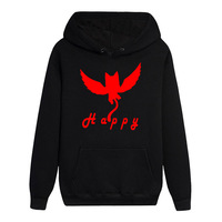 High Q Hot Anime FAIRY TAIL Happy Logo Long Sleeves Noctilucent Hoodies Popular Cute Pullover Unisex Hooded Tops
