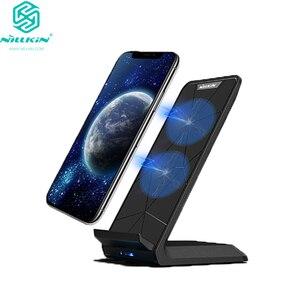 Image 1 - NILLKIN Qi Drahtlose Ladestation für iPhone XS/XR/X/8/8 Plus Schnelle 10W Drahtlose Ladegerät für Samsung Note 8/S8/S10/S10E