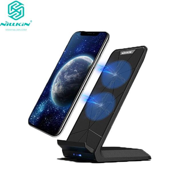 NILLKIN Qi Drahtlose Ladestation für iPhone XS/XR/X/8/8 Plus Schnelle 10W Drahtlose Ladegerät für Samsung Note 8/S8/S10/S10E