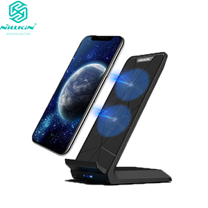 Image 1 - NILLKIN Qi Wireless Charger Stand for iPhone XS/XR/X/8/8 Plus Fast 10W Wireless Charger For Samsung Note 8/S8/S10/S10E