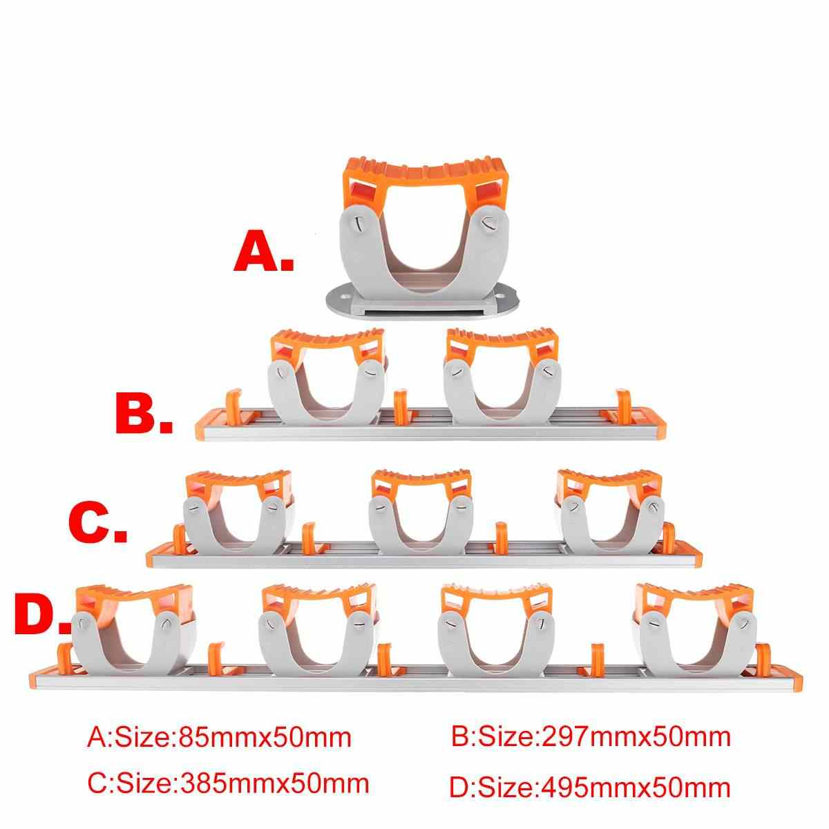 متعددة الوظائف حامل ممسحة جدار شنت المطبخ الحمام 4 موقف ممسحة و حامل مكنسة مع 5 السنانير حامل ممسحة جودة عالية