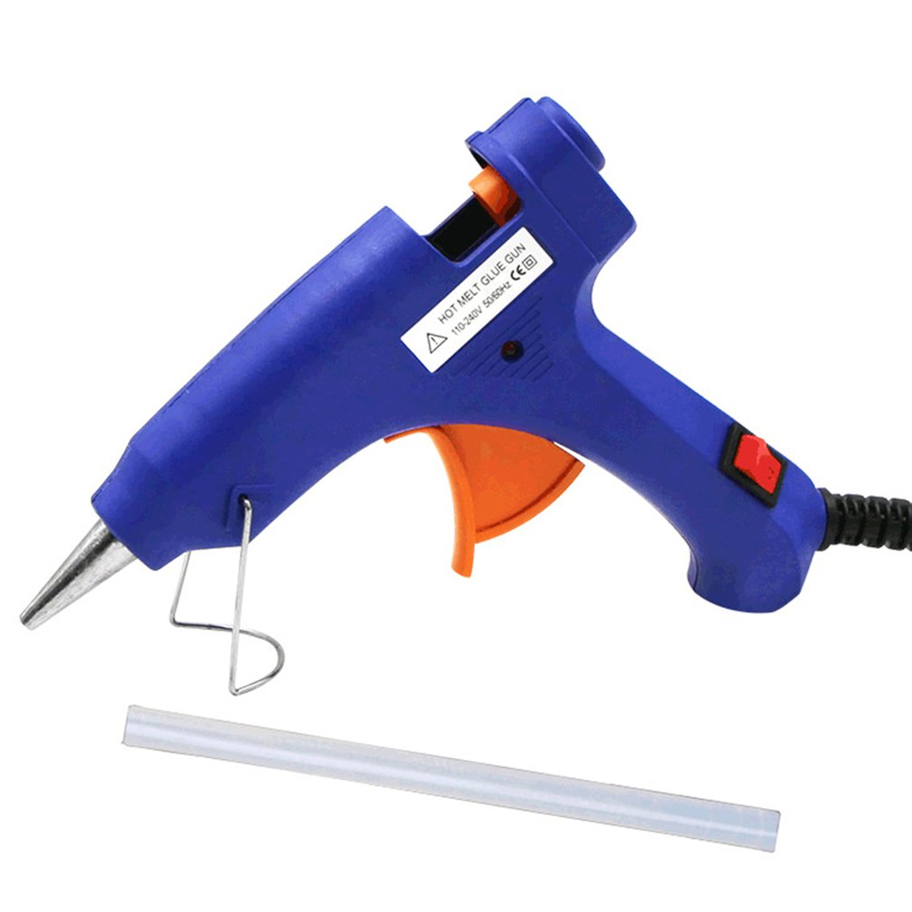 20W Mini Hot Melt Glue Gun With 1pc Glue Sticks For DIY Handworking Craft Projects & Sealing And Quick Daily Repairs