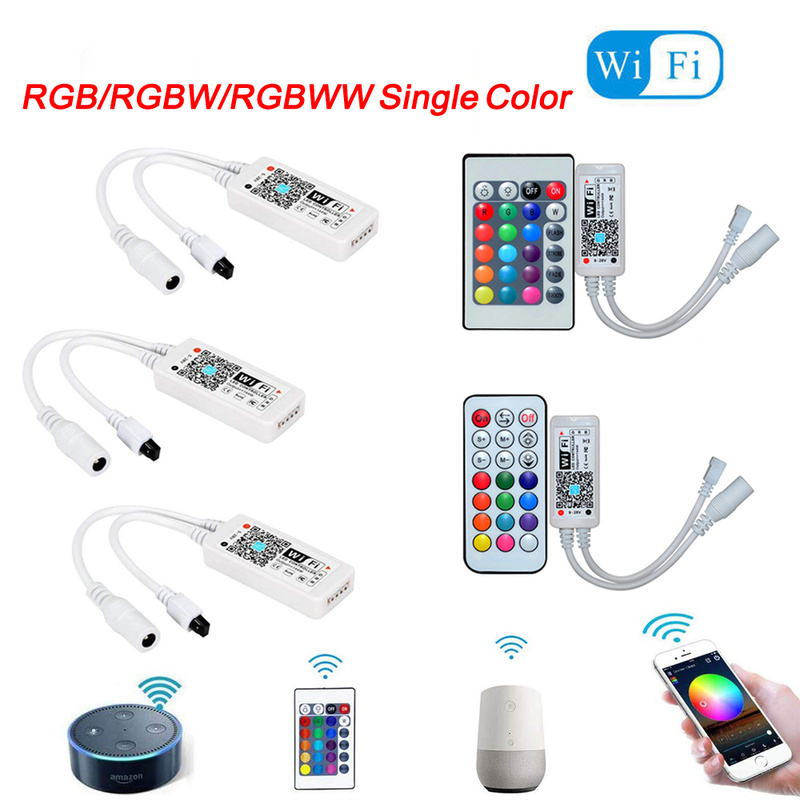 Magic Home LED Wifi Controller RGB RGBW RGBWW 5V 12V 24V WiFi Led Controller For Led Strip 5050 2835 5630 3528 WS2812B 2811
