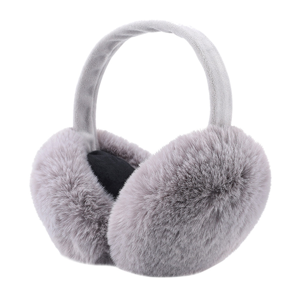 2019 Women's Winter Warm Cute Ear Solid Warmers Outdoor Foldable Earmuffs Ear Warmers Winter Kawaii Warm Accessories For Women
