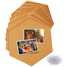 Cork Board Tiles 8 Pack With Full Sticky Back,Mini Wall Bulletin Boards,Pin Board-Decoration For Pictures,Photos,Notes,Goals,Dra