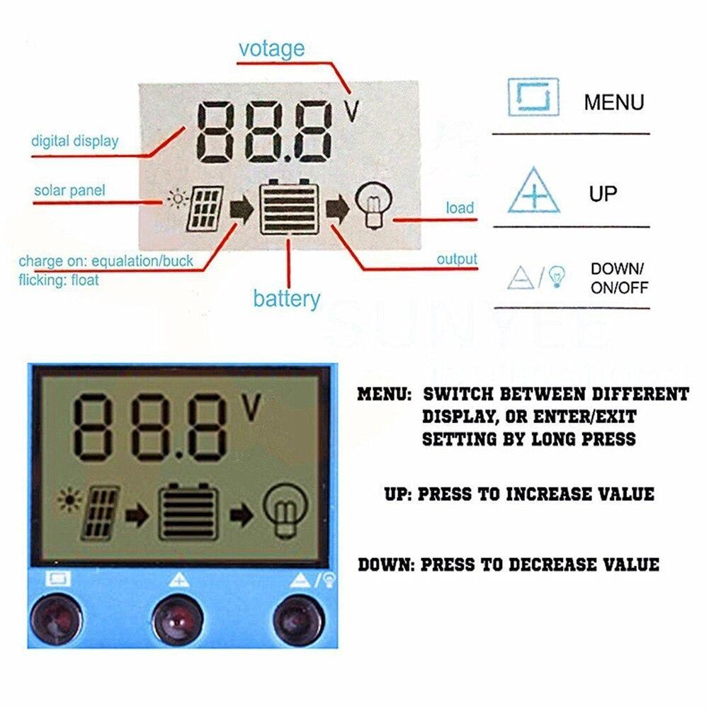 Dupla usb novo controlador solar 10a 20a