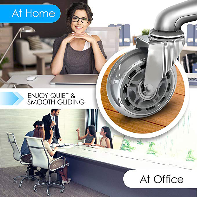 Roda resistente de borracha para cadeiras, entrega rápida, rodas de borracha para cadeiras de escritório, móveis-4