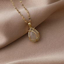 2021 South Korea New Fashion Temperament Pendant Necklace Simple Versatile Tulip Clavicle Chain Necklace Women's Jewelry
