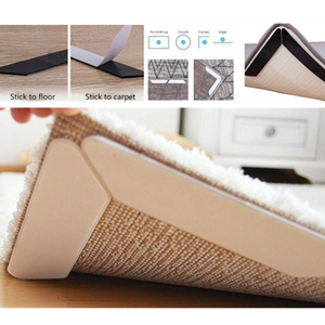 8PCS Anti Slip Soft Mat Rug Carpet Anti Curling Rug Grippers Tape Floor Home Rug Carpet Mat Gripper Non Slip Skid Reusable Grip(China)